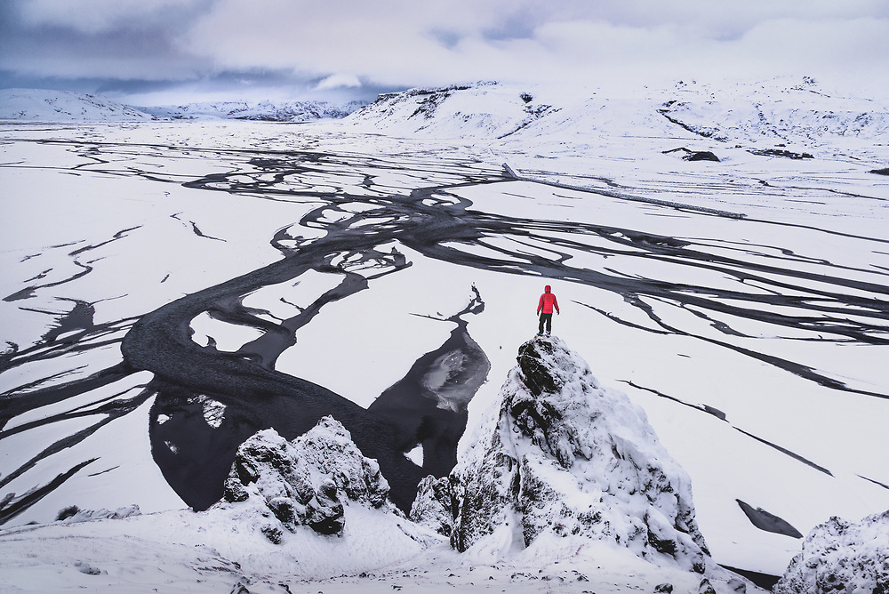 MarkarfljÛt glacial river in the South Iceland