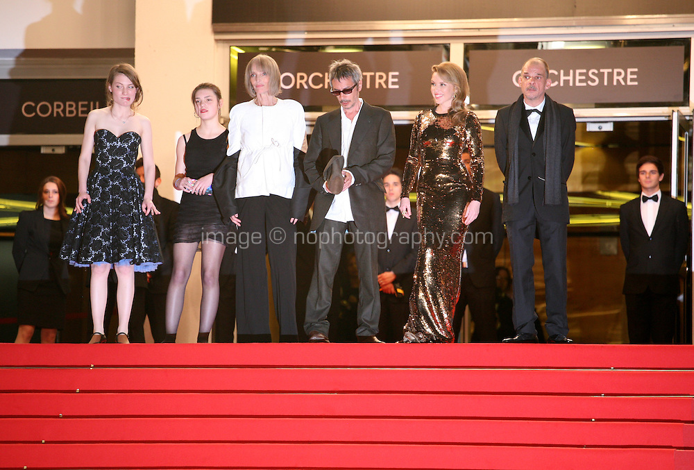Kylie Minogue and  Leos Carax and cast at the Holy Motors gala screening, red carpet at the 65th Cannes Film Festival France. Wednesday 23rd May 2012 in Cannes Film Festival, France.