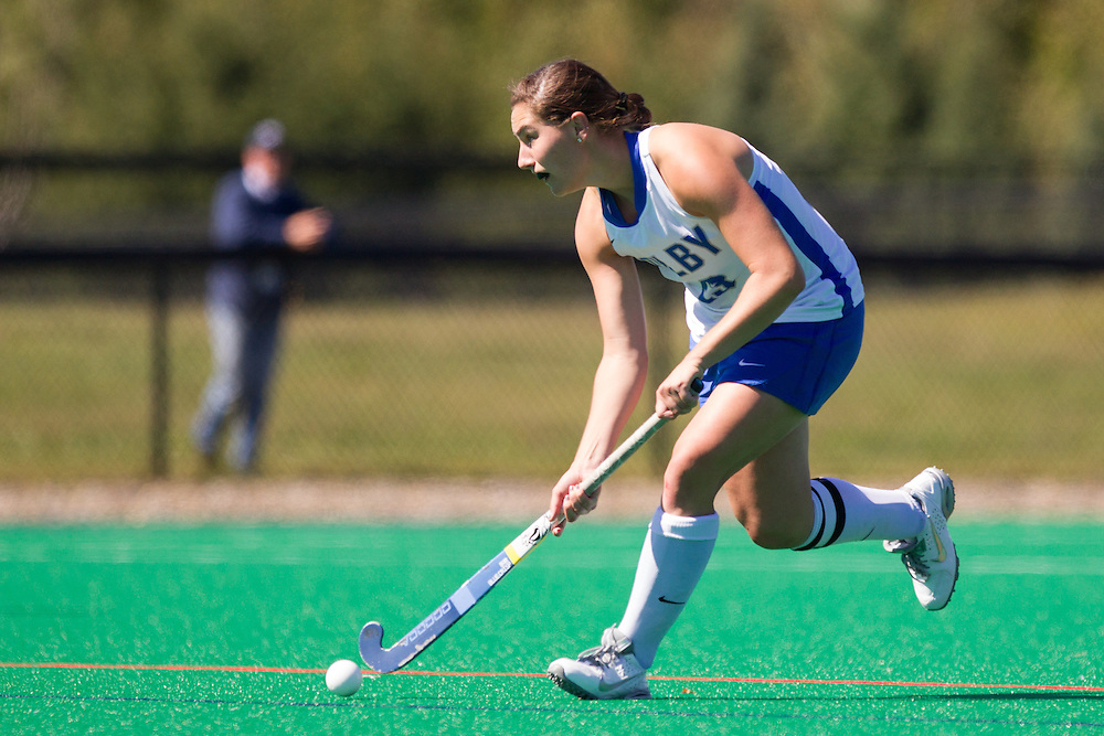 Caroline Keaveney, of Colby College, in a NCAA Division III field hockey game on September 14, 2014 in Waterville, ME. (Dustin Satloff/Colby College Athletics)