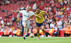 Kathrin Hendrich of Bayern Munich and Katerine Veje of Arsenal tussle for the ball - Mandatory by-line: Arron Gent/JMP - 28/07/2019 - FOOTBALL - Emirates Stadium - London, England - Arsenal Women v Bayern Munich Women - Emirates Cup