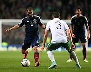 Shaun Maloney of Scotland in a action - UEFA Euro 2016 Qualifier - Scotland vs Republic of Ireland - Celtic Park Stadium - Glasgow - Scotland - 14th November 2014  - Picture Simon Bellis/Sportimage