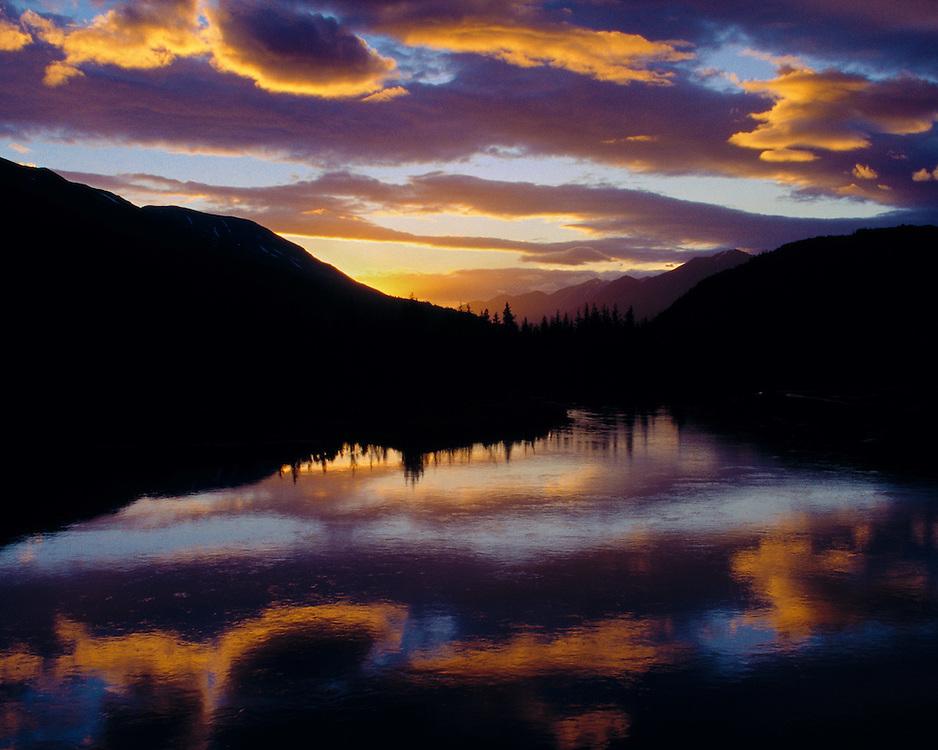 Sunset in Seward, Alaska