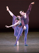 GASTON DE CARDENAS/EL NUEVO HERALD -- Mary Carmen Catoya and Renato Penteado in Miami City Ballet production of Sonatine with music by Ravel at the Jackie Gleason Theater on Miami Beach.
