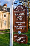 Buckman Tavern (Minute Man Headquarters - Est 1709), Lexington, Massachusetts