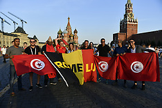 Belgium and Tunisia Fans in Moscow - 22 June 2018