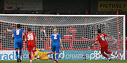 Crawley Town midfielder Simon Walton scores from the penalty spot during the Sky Bet League 2 match between Crawley Town and Leyton Orient at the Checkatrade.com Stadium, Crawley, England on 10 October 2015. Photo by Bennett Dean.