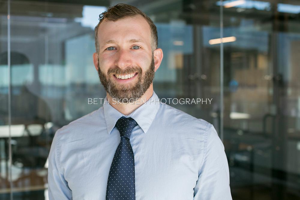 Matt has his portrait taken in Madison, Wisconsin on September 12, 2018. <br /> <br /> Beth Skogen Photography<br /> www.bethskogen.com Madison, Wisconsin portrait and headshot photographer