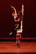 "9/14/2008 -- GASTON DE CARDENAS/EL NUEVO HERALD -- MIAMI --  Nazomi Lijima and Ranndy Herrera from the Houston Ballet performs Don Quijote ""Pax de Deux"" at the XIII International Ballet Festival of Miami."