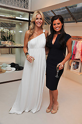 Left to right, MELISSA ODABASH and JESSICA WRIGHT (wearing Diva) from TV's Only Way is Essex at the opening of the new Melissa Odabash store in Walton Street, London SW3 on 7th July 2011.