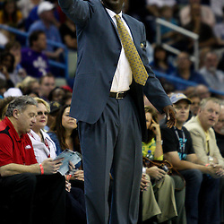 April 11, 2011; New Orleans, LA, USA; Utah Jazz head coach Tyrone Corbin against the New Orleans Hornets during the first half at the New Orleans Arena.  Mandatory Credit: Derick E. Hingle