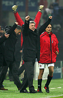 Milano 6/12/2005 Champions League <br /> <br /> Milan Schalke 04 3-2<br /> <br /> Milan trainer Carlo Ancelotti and Filippo Inzaghi celebrate at the end of the match<br /> <br /> Carlo Ancelotti e Filippo Inzaghi festeggiano a fine partita<br /> <br /> Photo Andrea Staccioli Graffiti
