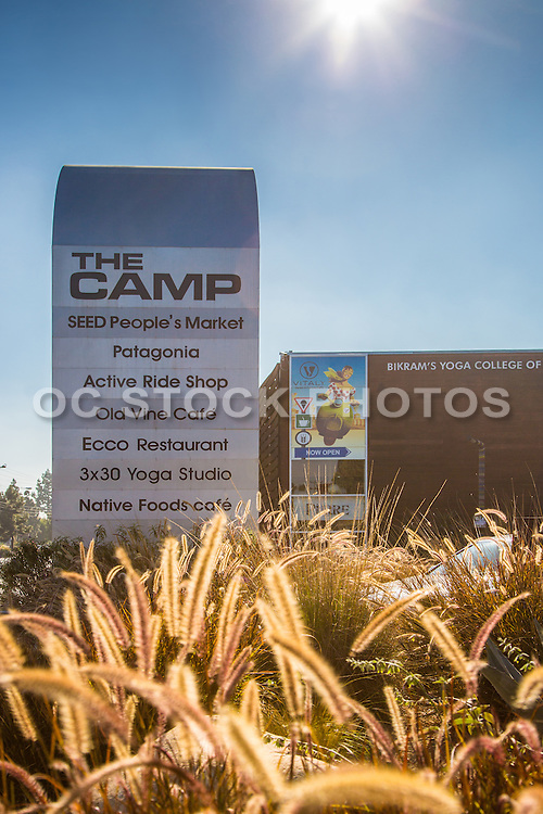 The Camp Outdoor Shopping and Dining Area in Costa Mesa