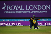 Cricket - 2021 Royal London 50-over Cup - Final - Glamrogan vs Durham - Trent Bridge<br /> <br /> Kiran Carlson of Glamorgan catches Luke Doneathy of Durham and is congratulated by Michael Hogan.<br /> <br /> COLORSPORT/Ashley Western