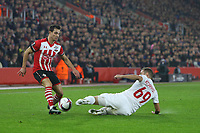 Football - 2016 / 2017 UEFA Europa League - Group K: Southampton vs Hapoel Be'er Sheva<br /> <br /> Mihaly Korhut of Hapoel Be er Sheva slides in to stop Southampton's Cedric Soares from getting a cross in at St Mary's Stadium Southampton England<br /> <br /> COLORSPORT/SHAUN BOGGUST