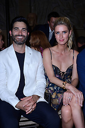 Tyler Hoechlin and Nicky Hilton Rotchild attending the Dundas D5 Haute Couture Paris Fashion Week Fall/Winter 2018/19 held in Paris, France on july 02, 2018. Photo by Aurore Marechal/ABACAPRESS.COM