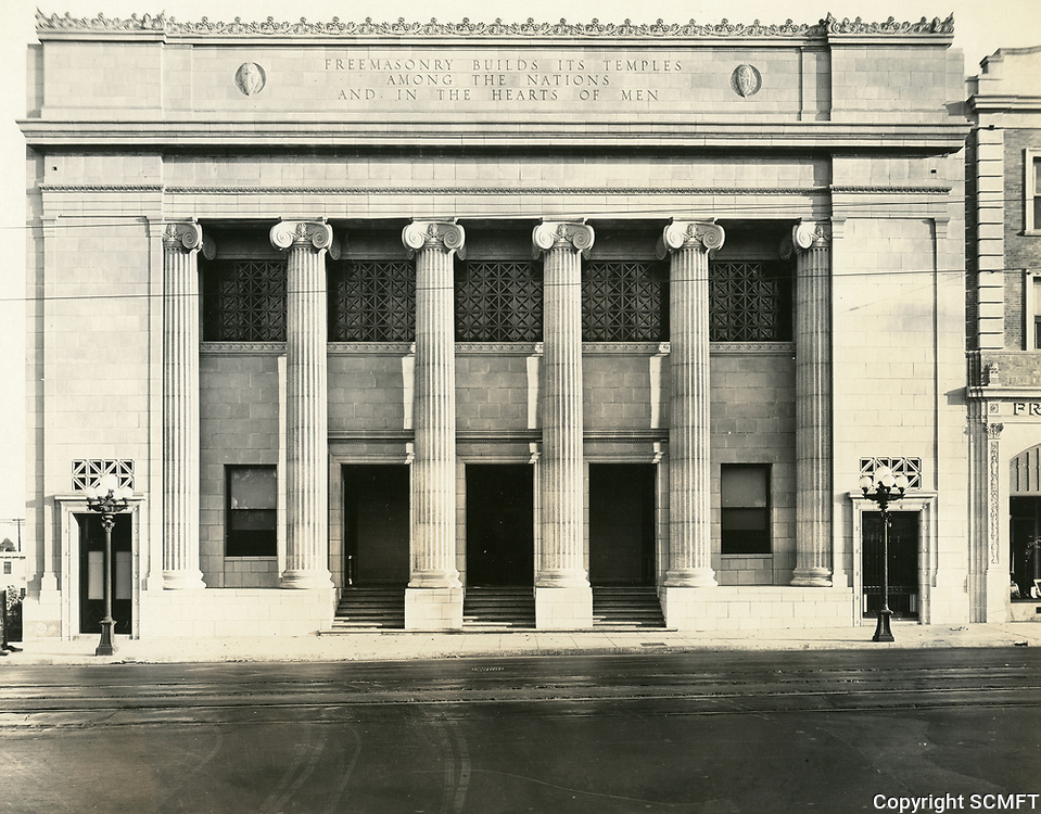 1928 Masonic Temple on Hollywood Blvd. at Orchid Ave.