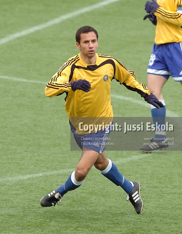Adel Eid, HJK 2005.&#xA;Harjoitusottelu.&#xA;Photo: Jussi Eskola<br />