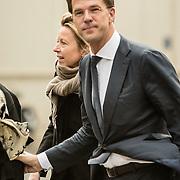 NLD/Utrecht/20140215 - Herdenkingsdienst Els Borst in de Domkerk, Premier Mark Rutte