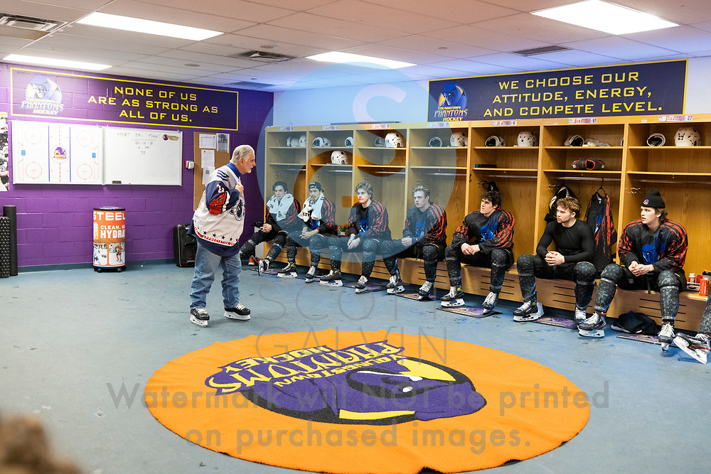 The Youngstown Phantoms lose 5-4 in overtime to the Chicago Steel at the Covelli Centre on February 20, 2021.
