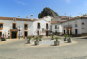 Historic buildings in Plaza de la Constitucion, Montejaque, Serrania de Ronda, Malaga province, Spain