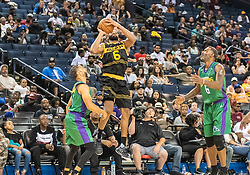 July 6, 2018 - Oakland, CA, U.S. - OAKLAND, CA - JULY 06: Alan Anderson (6) of the Killer 3s takes a perimeter jump shot during game 4 in week three of the BIG3 3-on-3 basketball league on Friday, July 6, 2018 at the Oracle Arena in Oakland, CA  (Photo by Douglas Stringer/Icon Sportswire) (Credit Image: © Douglas Stringer/Icon SMI via ZUMA Press)
