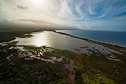 Aerial, Kealia Pond National Wildlife Refuge,  Maui, Hawaii