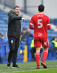 Birmingham City's Manager Steve Cotterill gestures to Maxime Colin