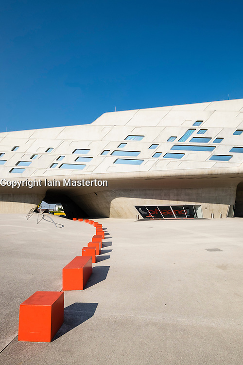 Exterior view of Phaeno Science Centre in Wolfsburg , Germany, Architect Zaha Hadid