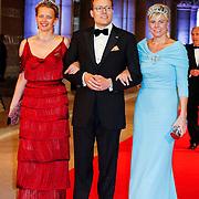 NLD/Amsterdam/20130429- Afscheidsdiner Konining Beatrix Rijksmuseum, Princess Mabel, prince Constantijn and husband princess Laurentien