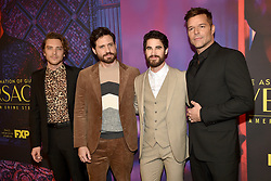 Cody Fern, Edgar Ramirez, Darren Criss and Ricky Martin attend the screening of FX's 'The Assassination Of Gianni Versace: American Crime Story' on March 19, 2018 in Los Angeles, California. Photo by Lionel Hahn/AbacaPress.com