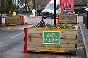 Low-traffic neighbourhood barriers put in place in Kings Heath on 16th November 2020 in Birmingham, United Kingdom. These traffic restrictions, many of which have been rushed through by local councils during the Coronavirus pandemic have created controversy in local communities, many of whom object the road closures which affect some businesses and roads adversely. The green measures, which have been named 'places for people' by Birmingham City Council are designed reduce traffic and to promote walking and cycling have been criticised for being environmentally unsound, and forcing traffic onto previously quiet roads.
