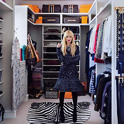 """Rachel Zoe releases a photo on Instagram with the following caption: """"#tbt\ud83d\udcf7 to a fun @chanelofficial moment in my closet captured by @instylemagazine #whenihadbangs #playingdressup #2012 XoRZ"""". Photo Credit: Instagram *** No USA Distribution *** For Editorial Use Only *** Not to be Published in Books or Photo Books ***  Please note: Fees charged by the agency are for the agency's services only, and do not, nor are they intended to, convey to the user any ownership of Copyright or License in the material. The agency does not claim any ownership including but not limited to Copyright or License in the attached material. By publishing this material you expressly agree to indemnify and to hold the agency and its directors, shareholders and employees harmless from any loss, claims, damages, demands, expenses (including legal fees), or any causes of action or allegation against the agency arising out of or connected in any way with publication of the material."""