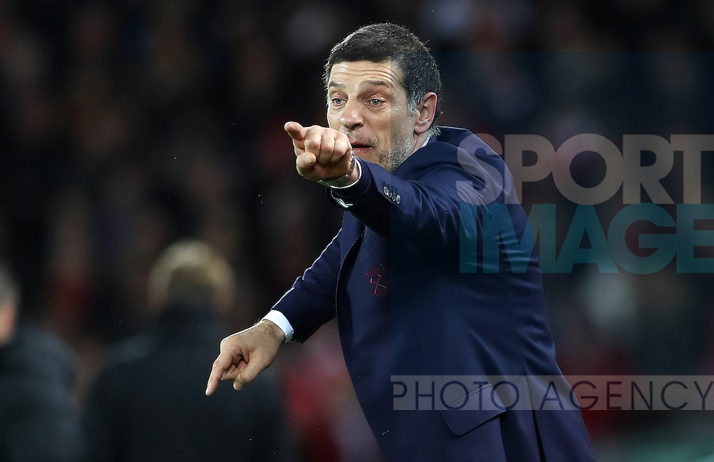 Manager of West Ham United Slaven Bilic during the Premier League match at Anfield Stadium, Liverpool. Picture date: December 11th, 2016.Photo credit should read: Lynne Cameron/Sportimage