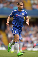 Branislav Ivanovic, the Chelsea standing captain in action. Barclays Premier League, Chelsea v Crystal Palace at Stamford Bridge in London on Saturday 29th August 2015.<br /> pic by John Patrick Fletcher, Andrew Orchard sports photography.