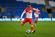 Millwall's Jed Wallace (7) in action during the EFL Sky Bet Championship match between Cardiff City and Millwall at the Cardiff City Stadium, Cardiff, Wales on 30 January 2021.