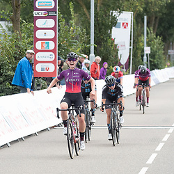 WEERT (NED) CYCLING, SIMAC LADIES TOUR,   August 27th 2021, <br /> The third stage of the Simac Ladies Tour was won by Lonneke Uneken.<br /> In Weert they prepared for a sprint but due to a massive crash a small group got in front with four riders of SD Worx and two of DSM. Uneken made it in front of Andersen and Georgi. Marlen Reusser kept the yellow jersey.