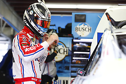 September 22, 2017 - Loudon, New Hampshire, United States of America - September 22, 2017 - Loudon, New Hampshire, USA: Kevin Harvick (4) hangs out in the garage during practice for the ISM Connect 300 at New Hampshire Motor Speedway in Loudon, New Hampshire. (Credit Image: © Justin R. Noe Asp Inc/ASP via ZUMA Wire)