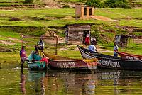 The fishing village of Katunguru, on the Kazinga Channel, in Queen Elizabeth National Park, Uganda.