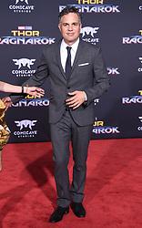 Marvel's 'Thor: Ragnarok' World Premiere held at the El Capitan Theatre. 10 Oct 2017 Pictured: Mark Ruffalo and Sunrise Coigney. Photo credit: O'Connor/AFF-USA.com / MEGA TheMegaAgency.com +1 888 505 6342