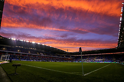 A general view of The Madejski Stadium as the sunsets during Reading v Derby County in the Sky Bet Championship - Mandatory by-line: Robbie Stephenson/JMP - 03/08/2018 - FOOTBALL - Madejski Stadium - Reading, England - Reading v Derby County - Sky Bet Championship