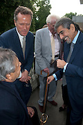 SONNY MEHTA; V.S. NAIPAUL; ; EDWARD ST. AUBYN; , David Campbell and Knopf host the 20th Anniversary of the revival of Everyman's Library. Spencer House. St. James's Place. London. 7 July 2011. <br /> <br />  , -DO NOT ARCHIVE-© Copyright Photograph by Dafydd Jones. 248 Clapham Rd. London SW9 0PZ. Tel 0207 820 0771. www.dafjones.com.