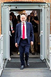 © Licensed to London News Pictures. 21/09/2019. Brighton, UK. Leader of the Labour Party and MP for Islington North JEREMY CORBYN is seen after taking part in the Andrew Marr Show from Brighton on Sunday morning. Photo credit: Hugo Michiels/LNP