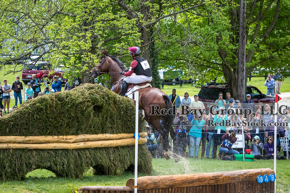 Dominic Schramm (AUS) and Bolytair B during the cross-country at the 2019 Land Rover Kentucky Three-Day Event presented by MARS EQUESTRIAN in Lexington, Kentucky