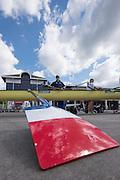 Poznan. Poland. General View, boating area, FISA 2015 European Rowing Championships. Venue Lake Malta. 28.05.2015. [Mandatory Credit: Peter Spurrier/Intersport-images.com]