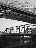 Cleveland bridges over the Cuyahoga River