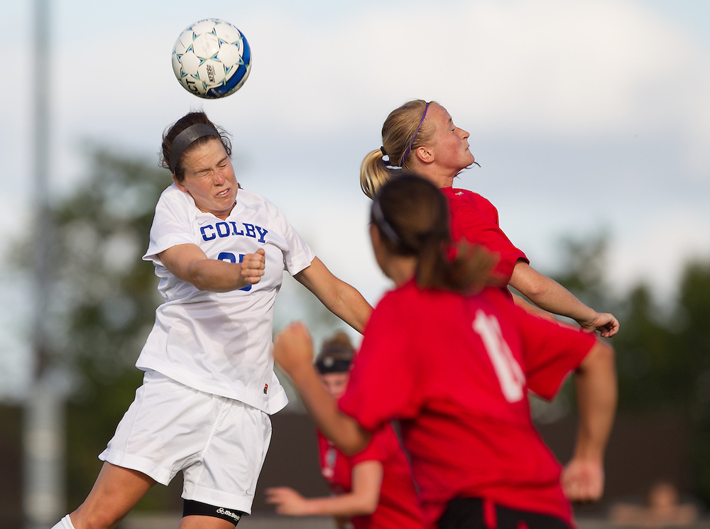 Emilie Klein, of Colby College, in a NCAA Division III soccer game on September 10, 2014 in Waterville, ME. (Dustin Satloff/Colby College Athletics)