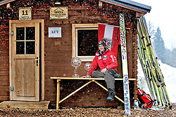 24.03.2013, Planica, Kranjska Gora, SLO, FIS Ski Sprung Weltcup, Gregor Schlierenzauer , im Bild Gregor Schlierenzauer (AUT) mit der grossen und kleinen Gesamtweltcup Kugel //  Gregor Schlierenzauer of Austria after he is winning the Overal FIS Skijumping and Skiflying Worldcup, Planica, Kranjska Gora, Slovenia on 2013/03/24. ***** BILD DIGITAL BEARBEITET *****. EXPA Pictures © .2013, PhotoCredit: EXPA/ Juergen Feichter