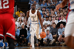 CHAPEL HILL, NC - JANUARY 27: Theo Pinson #1 of the North Carolina Tar Heels plays against the North Carolina State Wolfpack on January 27, 2018 at the Dean Smith Center in Chapel Hill, North Carolina. North Carolina lost 95-91. (Photo by Peyton Williams/UNC/Getty Images) *** Local Caption *** Theo Pinson