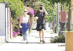 Joe Keery with his girlfriend Maika Monroe walk to a BLM Potest - 7 June 2020