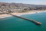 City of Ventura and Pier Aerial Stock Photo